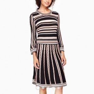 Kate Spade Scallop Stripe Knit Dress